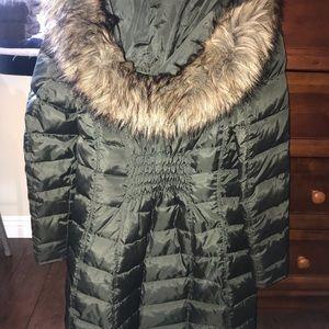Michael Kors Olive Trench Coat